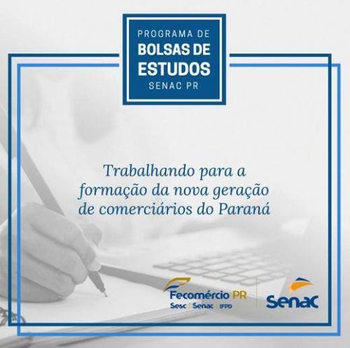 PROGRAMA DE BOLSA DE ESTUDOS SENAC PR