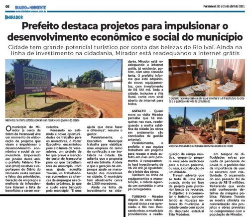 Projetos para o desenvolvimento econômico e social do Município