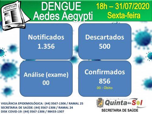 BOLETIM INFORMATIVO DIÁRIO 31/07/2020