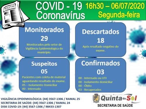 BOLETIM INFORMATIVO DIÁRIO 06/07/2020