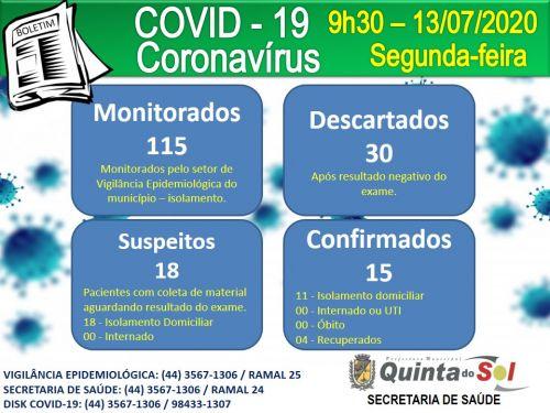 BOLETIM INFORMATIVO DIÁRIO 13/07/2020