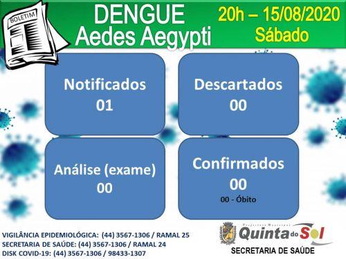BOLETIM INFORMATIVO DIÁRIO 15/08/2020