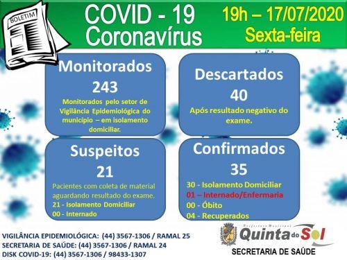 BOLETIM INFORMATIVO DIÁRIO 17/07/2020