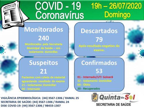 BOLETIM INFORMATIVO DIÁRIO 26/07/2020