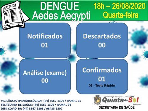 BOLETIM INFORMATIVO DIÁRIO 26/08/2020