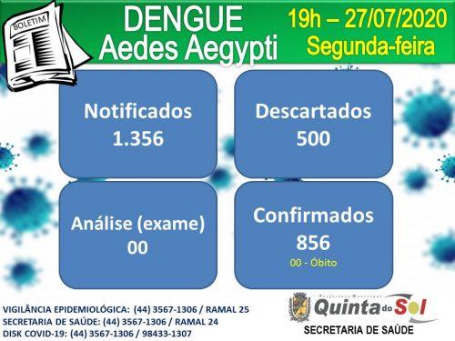 BOLETIM INFORMATIVO DIÁRIO 27/07/2020