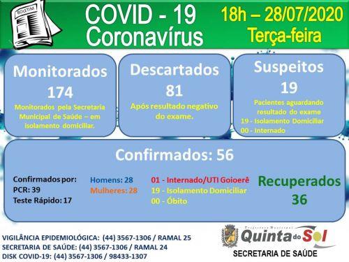 BOLETIM INFORMATIVO DIÁRIO 28/07/2020