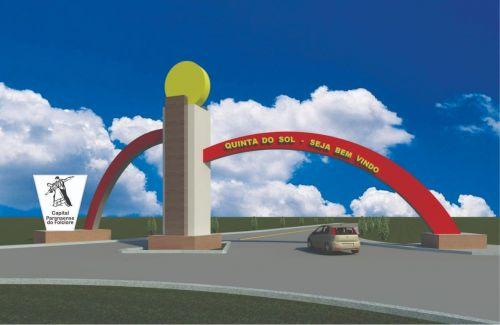 Quinta do Sol inicia construção de portal na entrada da cidade