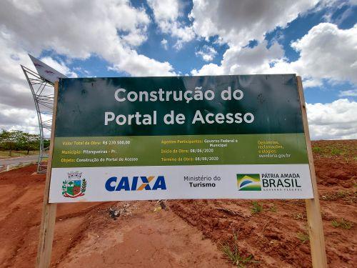 Agora vai!!! Obras da Construção do Portal de Acesso foram retomadas