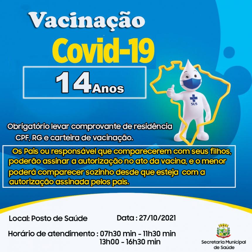 Vacinação 14 anos!!