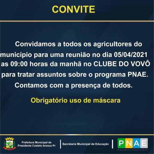 Reunião PNAE