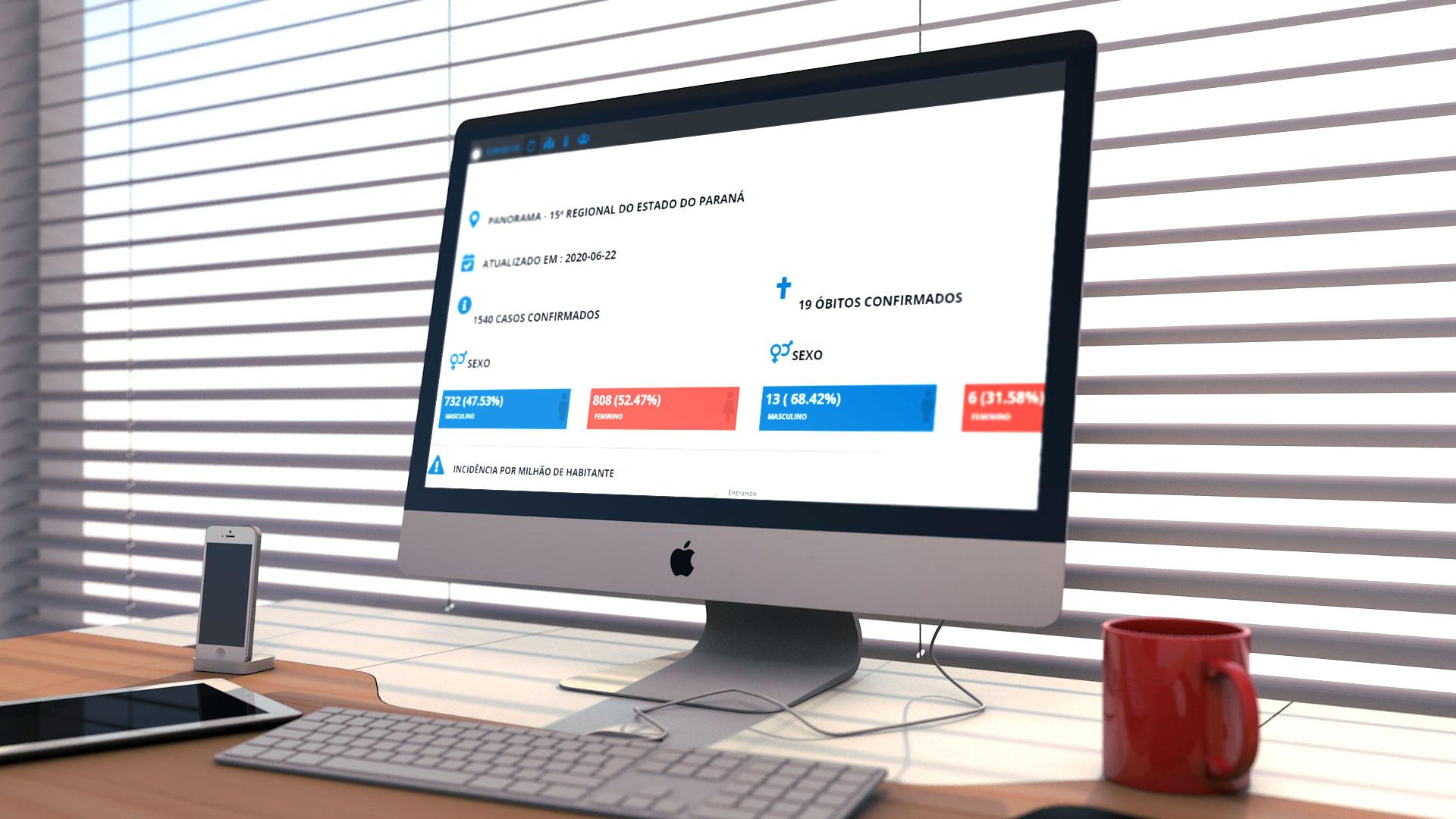 Dash Board é a nova ferramenta de enfrentamento ao Covid-19 em Mandaguaçu