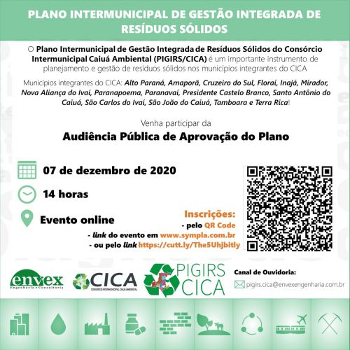 Plano Intermunicipal de Gerenciamento de Resíduos Sólidos do Consórcio CICA.
