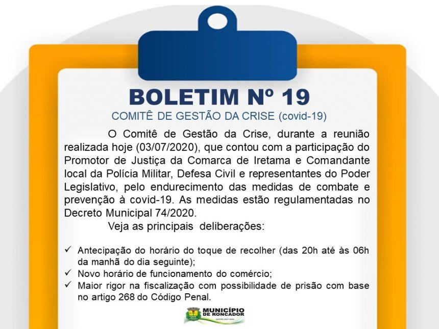 PREFEITURA ENDURECE MEDIDAS DE COMBATE E PREVENÇÃO À COVID-19