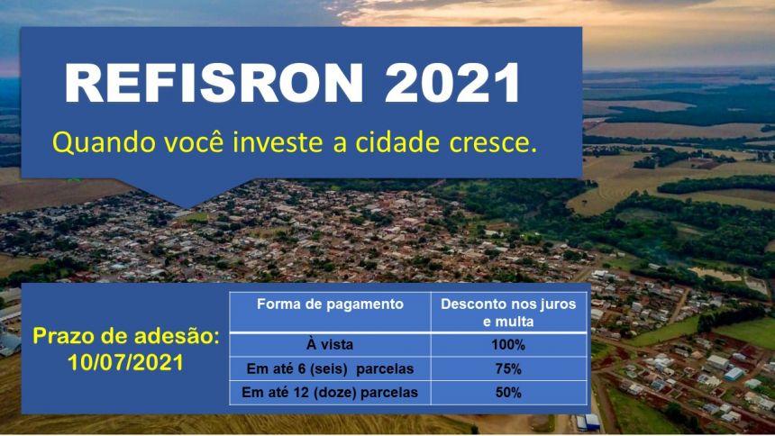 PREFEITURA LANÇA REFIS 2021