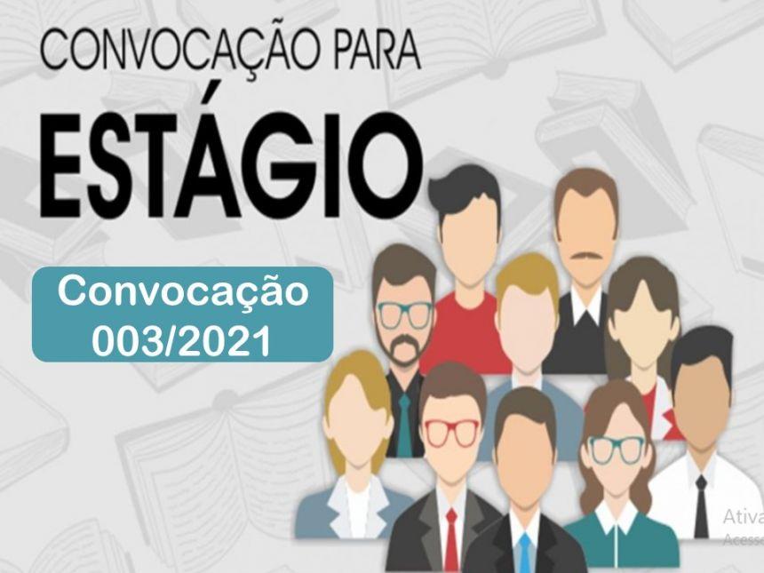 CONVOCAÇÃO 003/2021: PREFEITURA CONVOCA ESTAGIÁRIOS APROVADOS NO PROCESSO SELETIVO