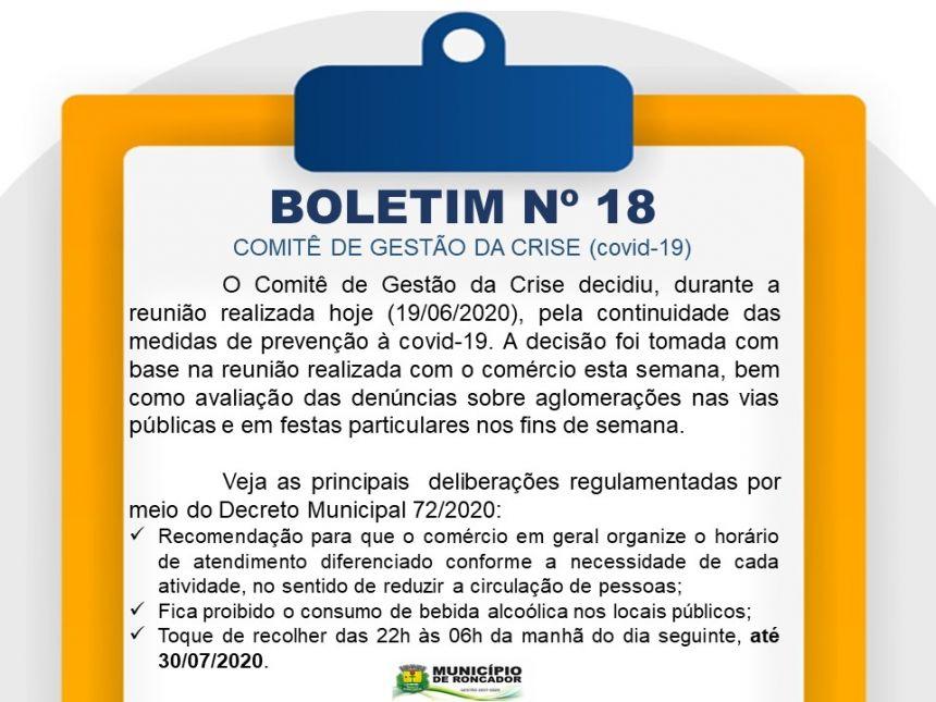 BOLETIM Nº 18