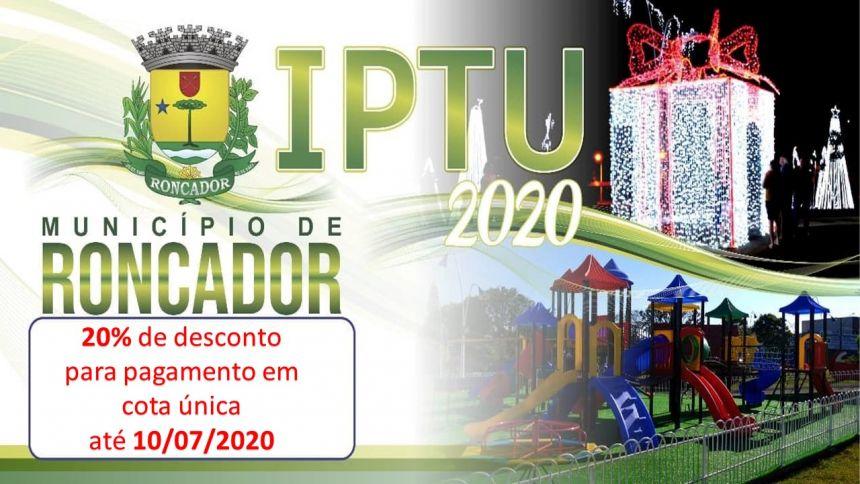 IPTU 2020 - Os carnês já estão disponíveis