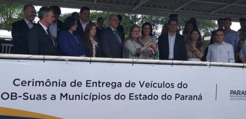 O evento contou com a presença da primeira-dama, Michele Bolsonaro, da ministra da Mulher, da família e dos Direitos Humanos, Damares Alves, do ministro Osmar Terra e de várias autoridades como o Governador Carlos Massa Ratinho Junior