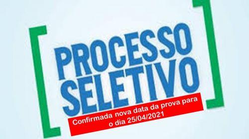 PREFEITURA CONFIRMA NOVA DATA DA PROVA DO PROCESSO SELETIVO