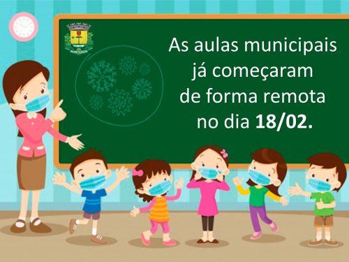 SECRETARIA DE EDUCAÇÃO INCIA AS AULAS NAS ESCOLAS MUNICIPAIS