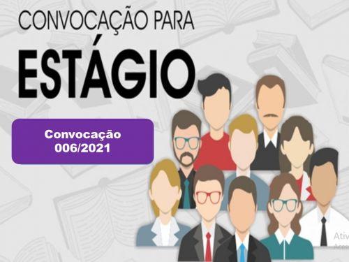 CONVOCAÇÃO 006/2021: PREFEITURA CONVOCA ESTAGIÁRIOS APROVADOS NO PROCESSO SELETIVO