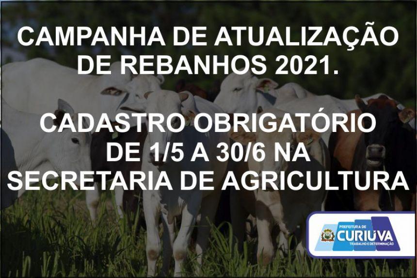 Produtores Rurais devem fazer atualização do rebanho na Secretaria de Agricultura