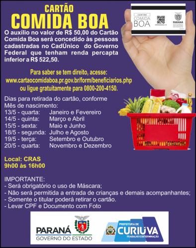 Secretaria de Assistência Social monta cronograma de entrega do Cartão Comida Boa