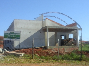 Obra da UBS Vila Bigon está na fase de cobertura e deve ser entregue em aproximadamente 40 dias