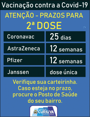 Plano Municipal de Vacinação / Calendário
