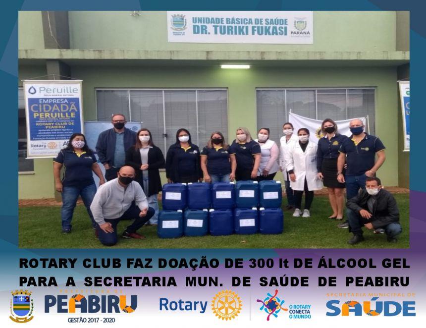 /// ROTARY FAZ DOAÇÃO DE 300lt DE ÁLCOOL GEL PARA SECRETARIA MUN. DE SAÚDE DE PEABIRU ///