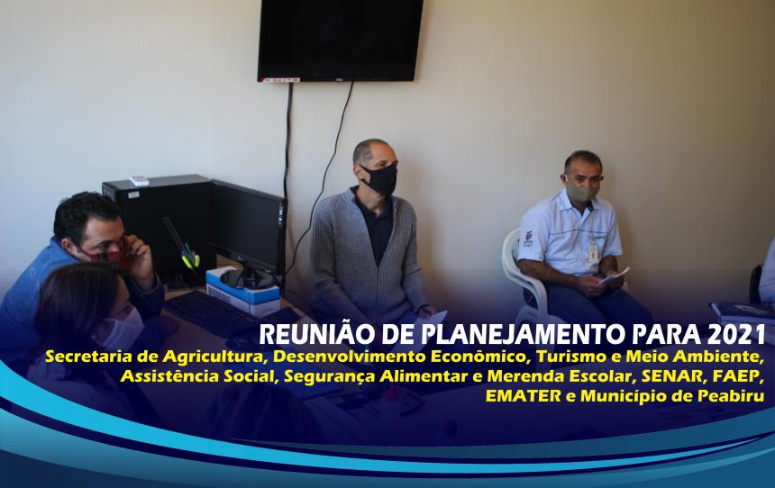 REUNIÃO DE PLANEJAMENTO PARA O ANO DE 2021