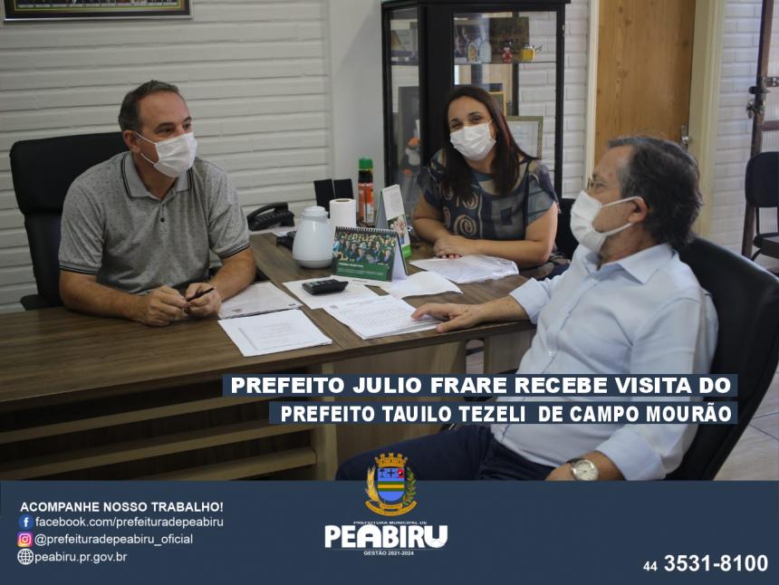 VISITA DO PREFEITO TAUILO DE CAMPO MOURÃO