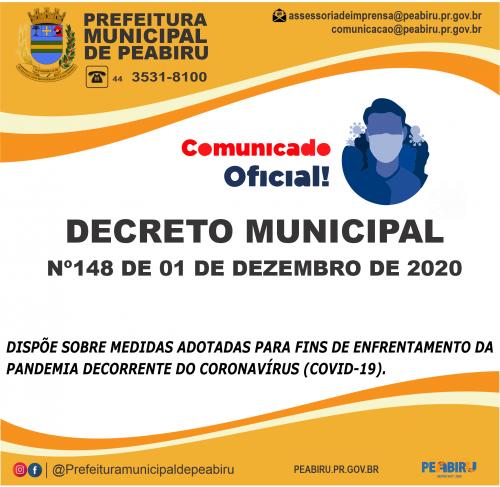 DECRETO MUNICIPAL Nº148/2020