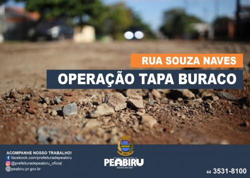 OPERAÇÃO TAPA BURACO RUA SOUZA NAVES