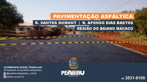 PAVIMENTAÇÃO ASFÁLTICA NA REGIÃO DO BAIANO MACACO