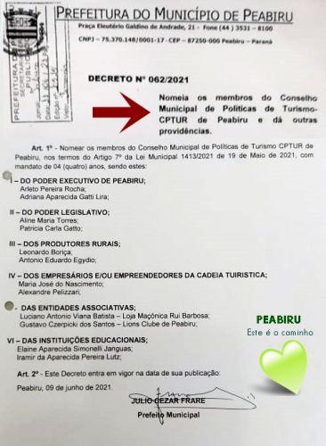 CONSELHO DE TURISMO DE PEABIRU CRIADO
