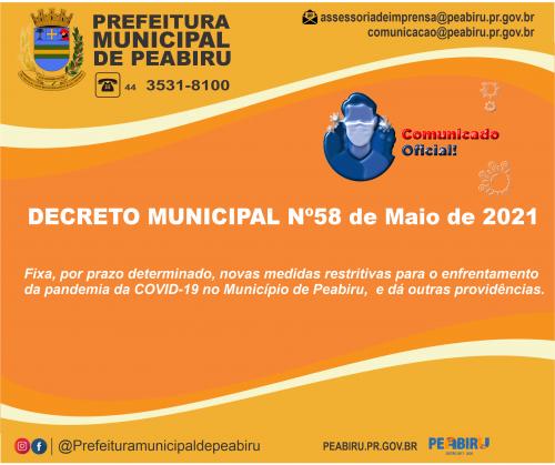 DECRETO MUNICIPAL Nº58/2021