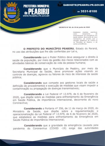 DECRETO MUNICIPAL N°69/2020