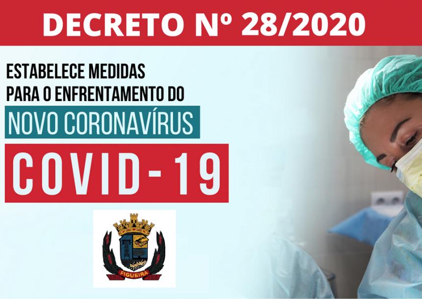 DECRETO ESTABELECE MEDIDAS DE PREVENÇÃO AO CORONAVÍRUS (COVID-19) NO MUNICÍPIO DE FIGUEIRA