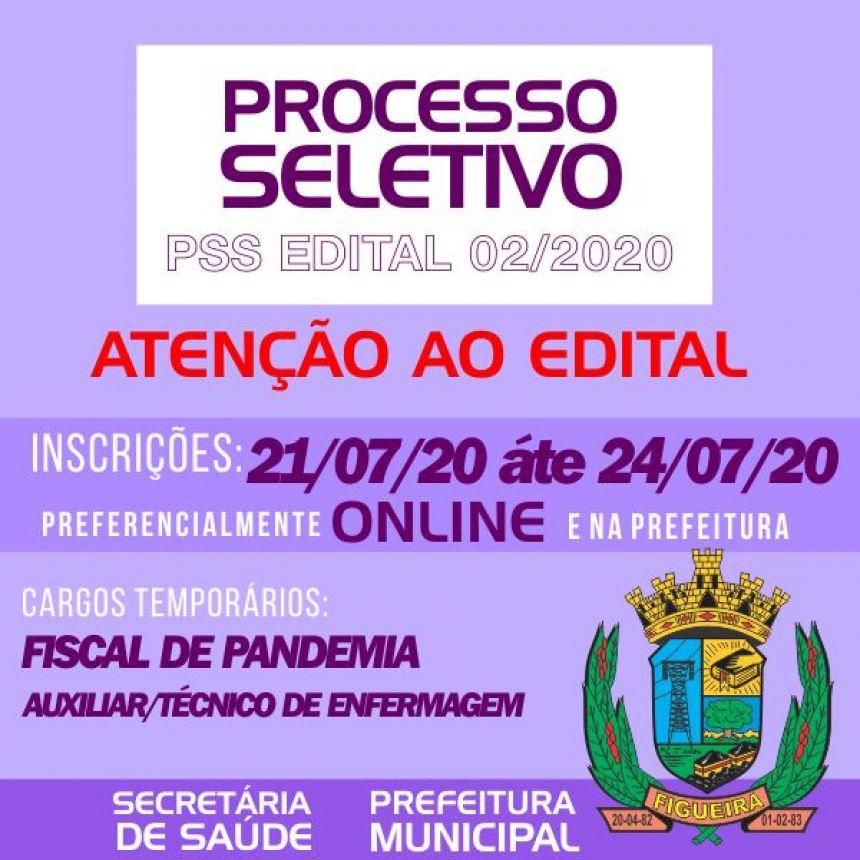 PSS 02 2020 - FISCAL PANDEMIA E AUXILIAR TÉCNICO ENFERMAGEM