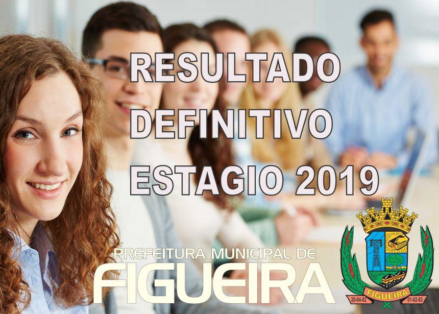 RESULTADO DEFINITIVO ESTAGIO 2019