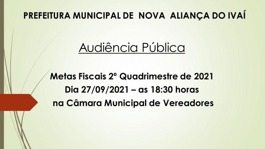AUDIENCIA PUBLICA - METAS FISCAIS