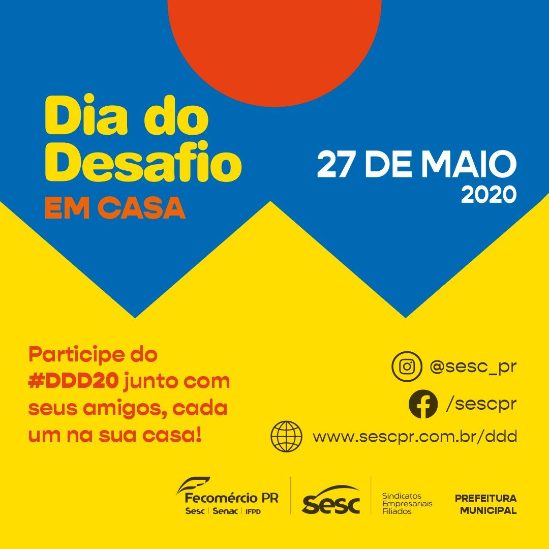 DIA DO DESAFIO VEM AI!!! DIA 27/05/2020