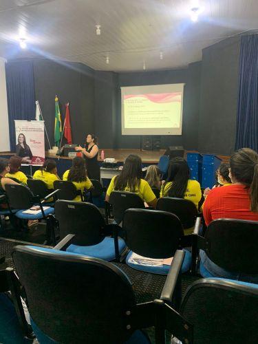 Capacitação com toda a Rede de proteção dos direitos da Criança e Adolescentes com o Tema Escuta Especializada e Revelação Espontânea.