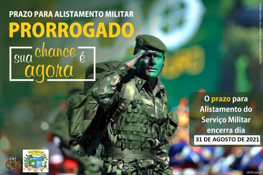 GOVERNO FEDERAL PRORROGA PRAZO PARA ALISTAMENTO MILITAR ATÉ DIA 31 DE AGOSTO.