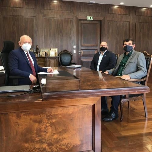 Prefeito e Chefe de Gabinete visitam Presidente da ALEP