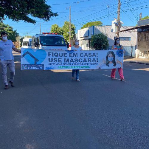 """Secretaria de Saúde promove carreta na  """"Semana de Conscientização do Covid-19"""""""