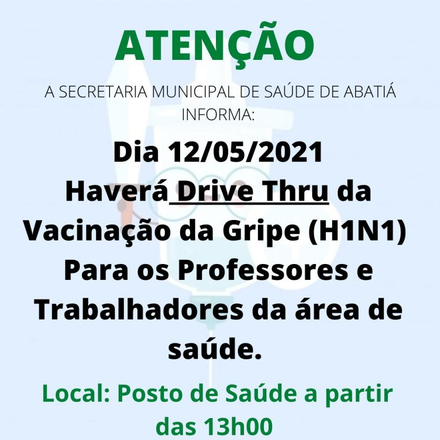 VACINAÇÃO GRIPE - H1N1