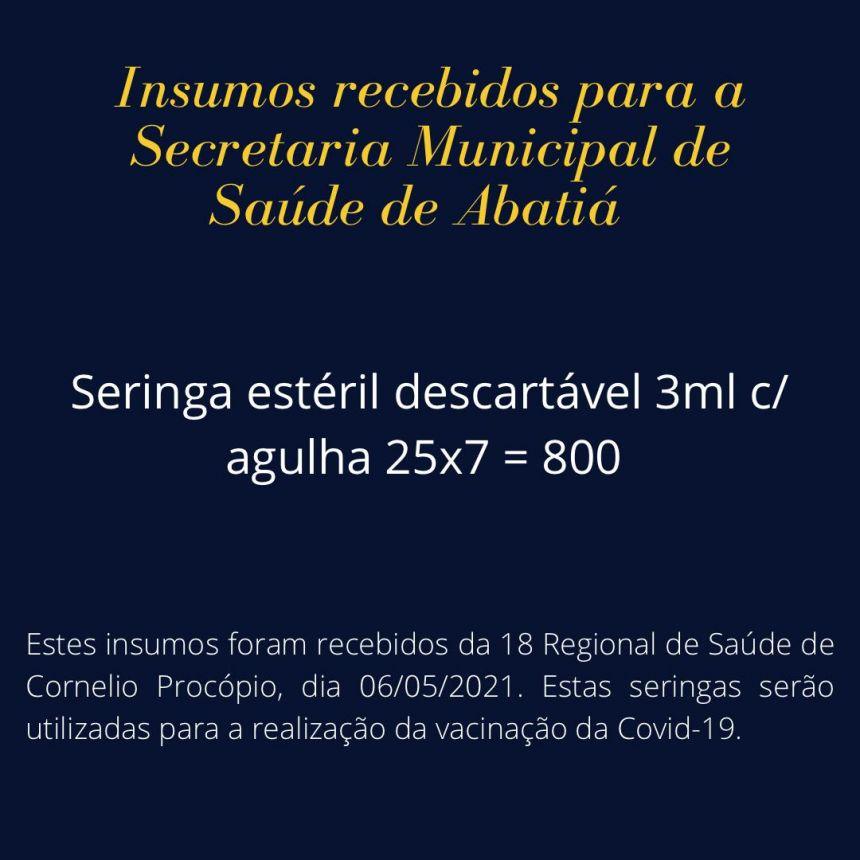 INSUMOS RECEBIDOS 02